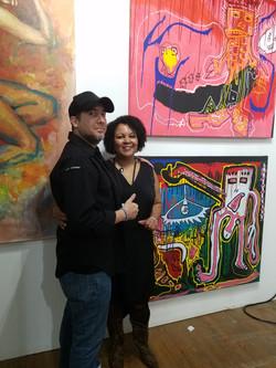 Artist Roman Gonzalez and Yorka