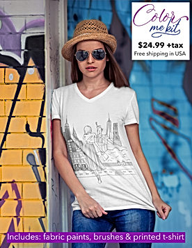 mockup-of-a-woman-wearing-a-v-neck-t-shi