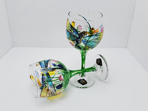Hand Painted Cocktail Glasses