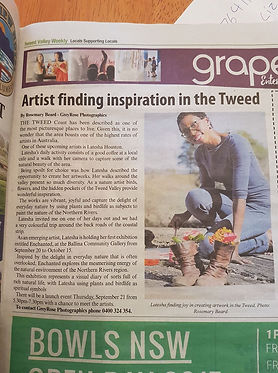 Artist finding inspiration in the Tweed article