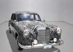 Handpainted Mercedes Benz Car