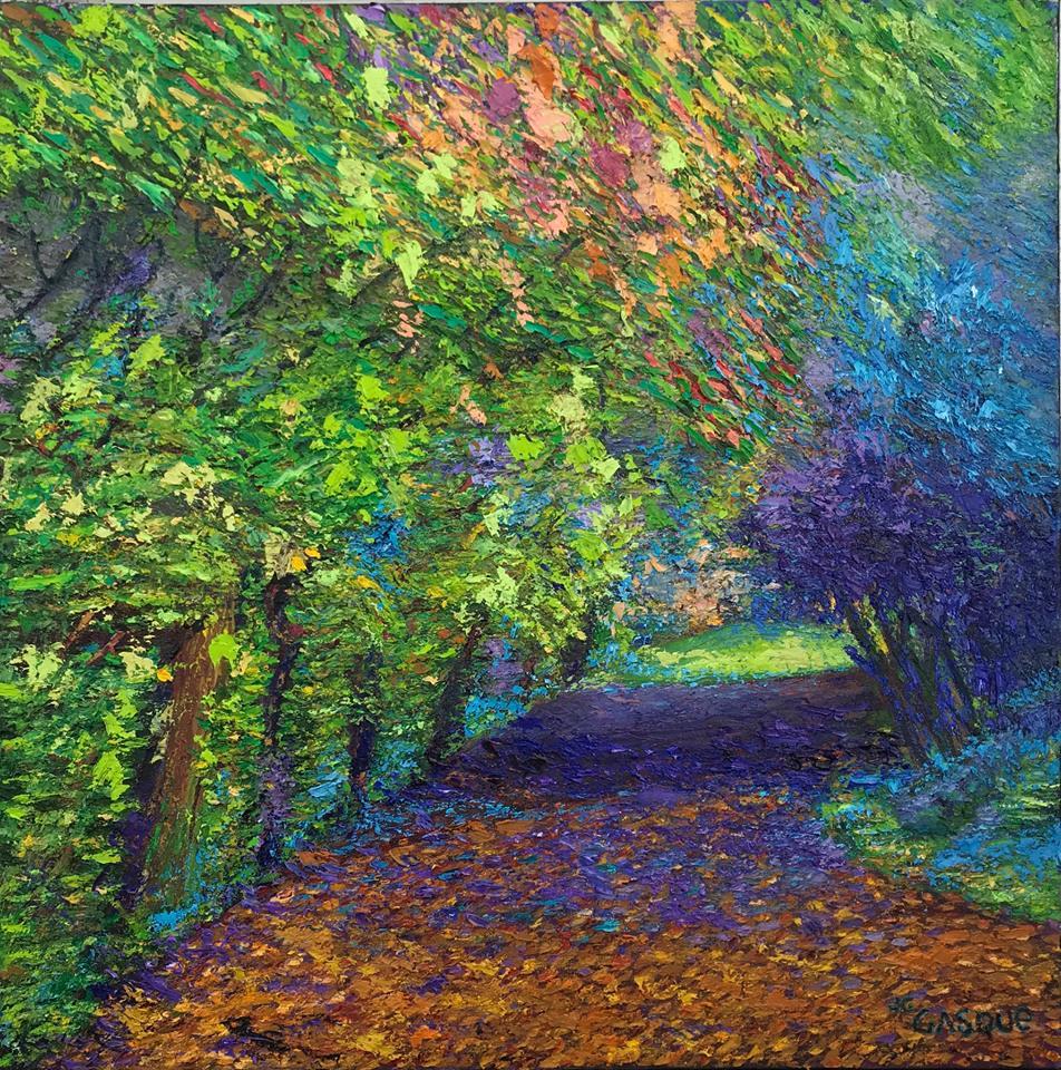 Camino por el jardin