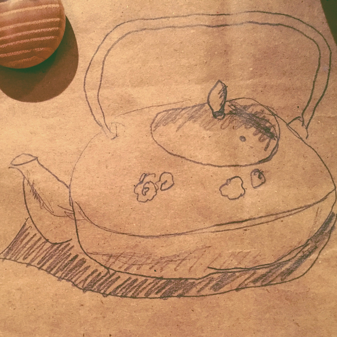 Teapot Drawing on DSW bag
