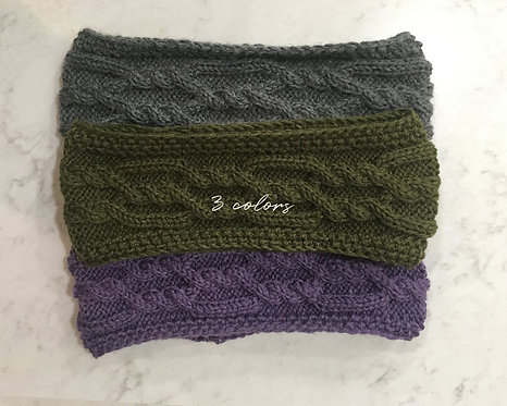 Cable Knit Wool and Wool Blend Headbands