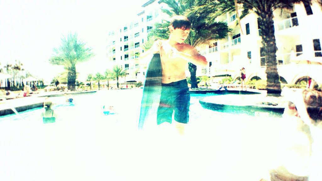 Slow Shutter Swimmer