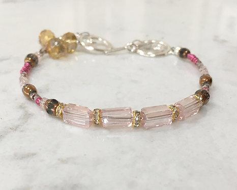 """Peony Pink Bracelet 7.75"""""""