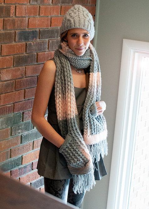 Boho Knitted Pocket Shawl