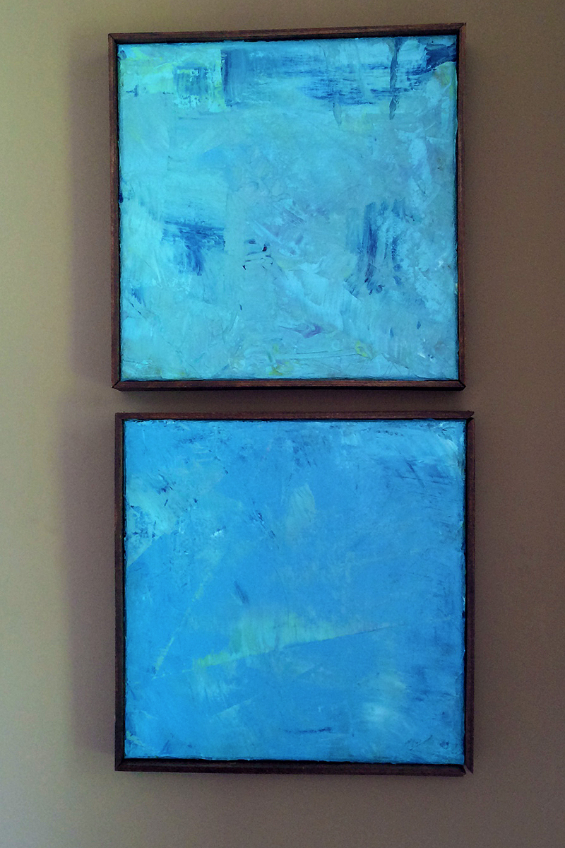 Abstract Blue Pair