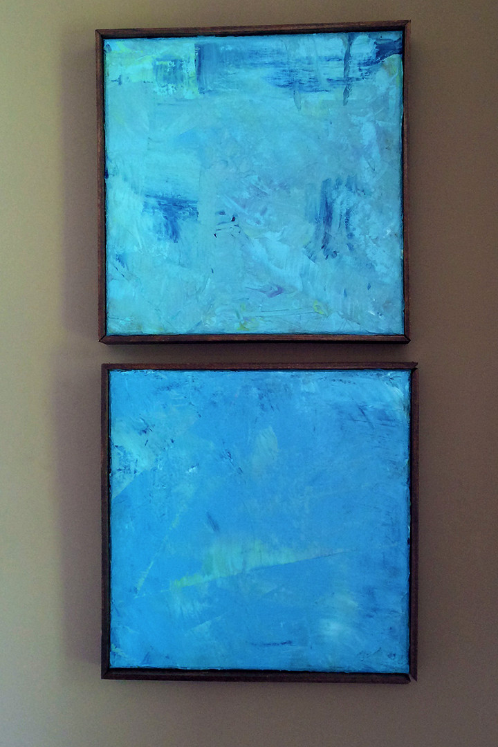 Abstract Blue-Diptyc