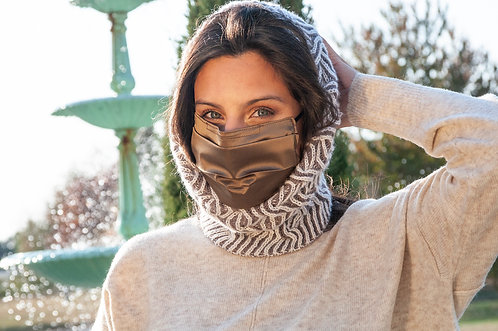 Cashmere Hand-knit Brioche Snood
