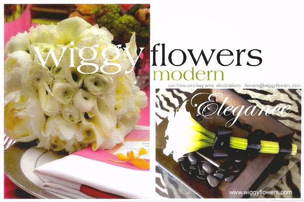 Postcard Wiggy Flowers