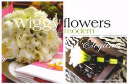 Postcard Wiggy Flowers