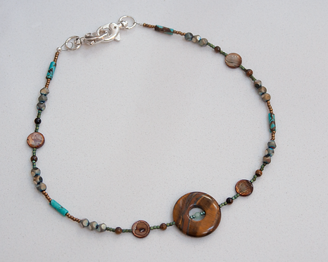 Tiger Eye Pendant Lanyard/Necklace