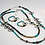 "Thumbnail: 23"" Bead and Metal Symmetrical Lanyard/Necklace"