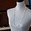 "Thumbnail: 30"" Pearl Shell and Bugle Bead Lanyard/Necklace"