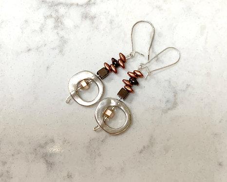 Metal Drop Earrings
