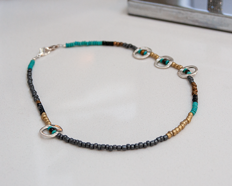 "18"" Asymmetrical Necklace/Maskholder/Lanyard"