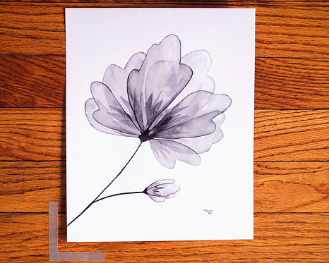 """Greyscale Watercolor 8"""" x 10"""" by Studio Julep"""