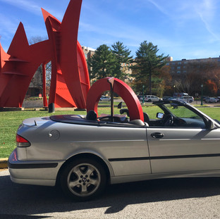 "Saab, ""The Big O"" and Noguchi with Calder"