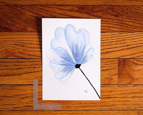 Blue Floral Watercolor by Studio Julep 5 x 7