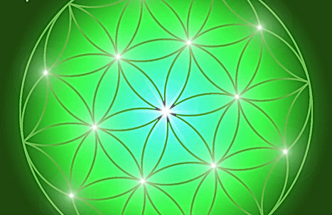 Feng Shui Energiesymbole Blume des Lebens