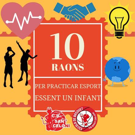 10 RAONS PER LES QUALS ÉS NECESSÀRIA LA PRÀCTICA ESPORTIVA ENTRE ELS INFANTS