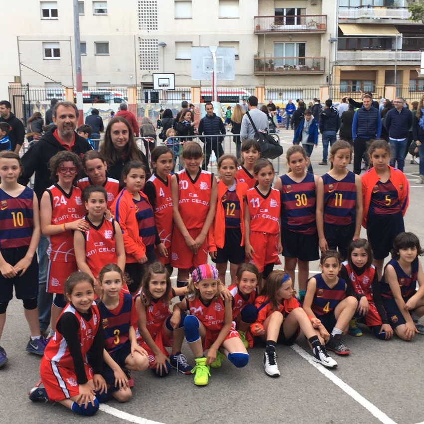 Amb les noies del Barça