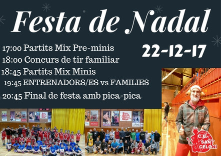 INFORMACIÓ FESTA DE NADAL