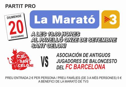 Sant Celoni vs. Barça Veterans. Partit benèfic per la Marató