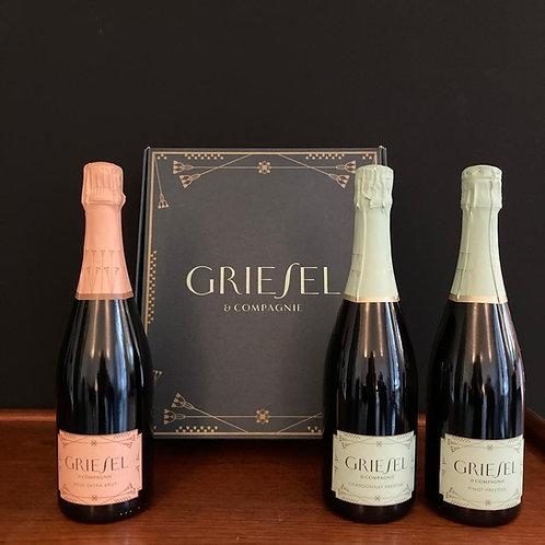 Griesel Prestige - Chardonnay Brut Nat. - Pinot Brut Nat. - Rosé Extra Brut