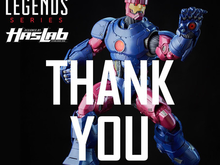 HasLab updates on the Marvel Legends Sentinel project.