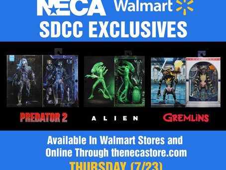 NECA's reveal of SDCC 220 Con Exclusives - Where and When to get them!