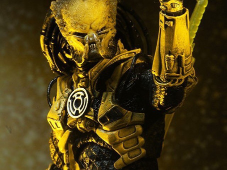 NECA Unleashes Yellow Lantern Predator against Green Lantern to battle at NYCC!