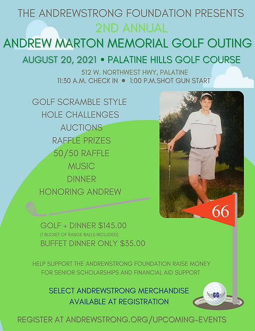 Register Here for the 2nd Annual Andrew Marton Memorial Golf Outing