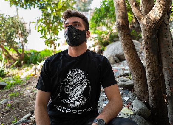"""Black T-Shirt -PREPPERS """"Hawkeye"""""""