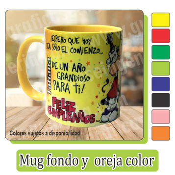 Mugs fondo y oreja color 11 onzas