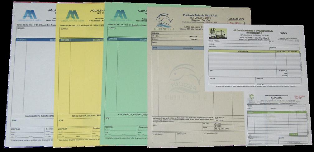 Elaboración de membretes, talonarios para facturación de contingencia, remisiones, etc.