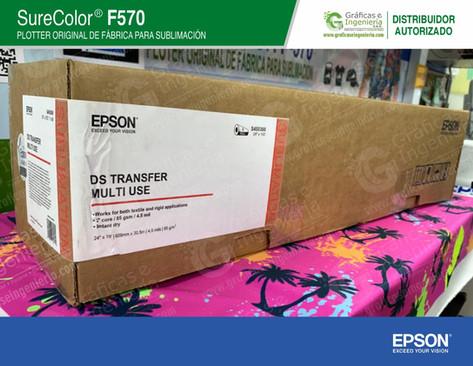 Rollo de papel Epson de 61 cm x 30 m.
