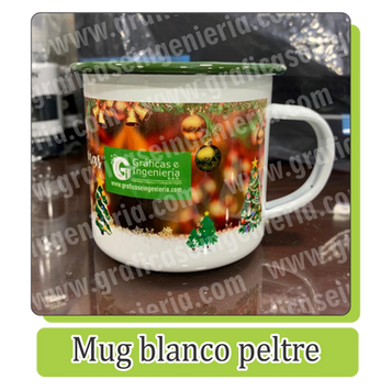 Mugs peltre blanco