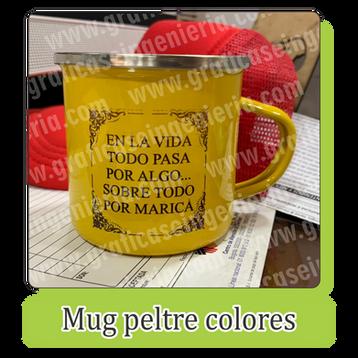 Mugs peltre de colores