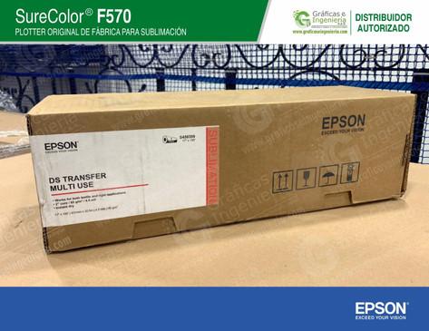 Rollo de papel Epson de 43 cm x 30 m.