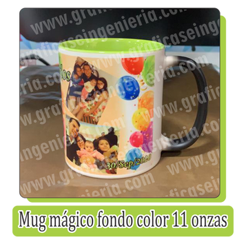 Mugs mágico fondo color 11 onzas