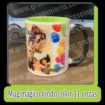 Mugs mágico fondo color 11 onzas