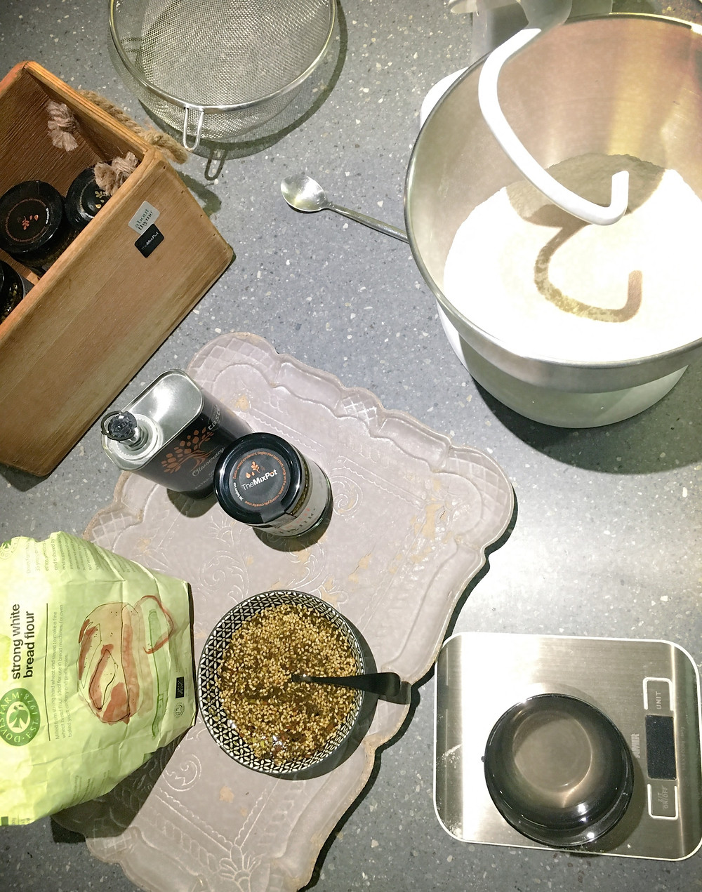Ingredients for zaatar breadsticks from About Thyme - TheMixPot