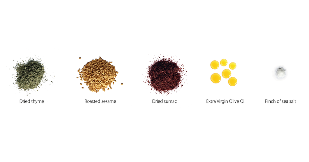 Zaatar ingredients, About Thyme, TheMixpot
