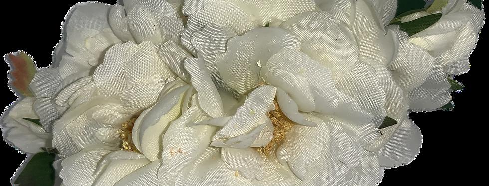 AMELIA Ivory Peony Hair Flower