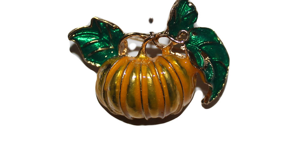 Vintage Style Pumpkin Brooch