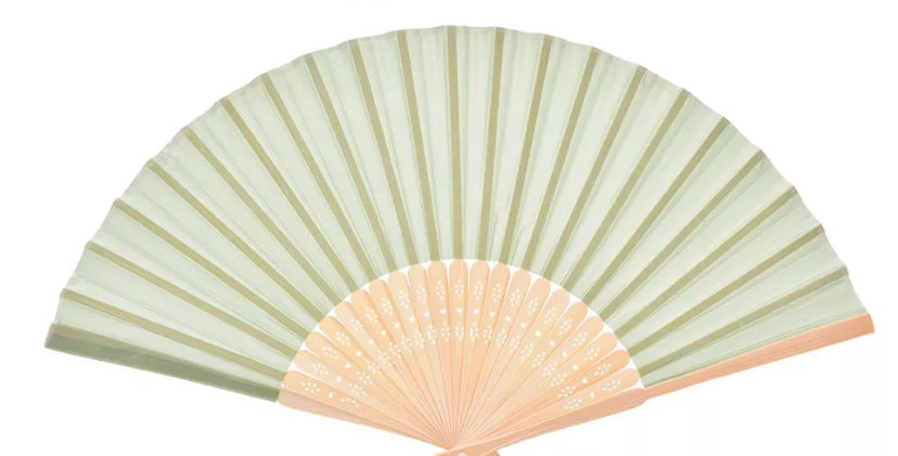 Bamboo Fan - Green