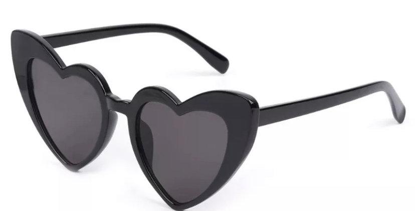 KITTY Heartshaped Sunglasses - Black