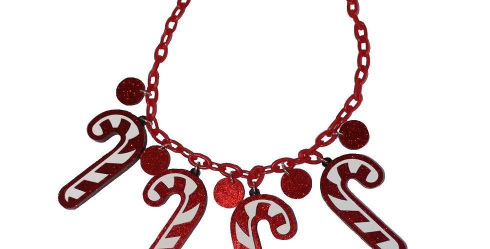 Acrylic Candy Cane Necklace